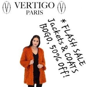 * Vertigo Teddy Bear Cardigan Fuzzy Knit Sweater